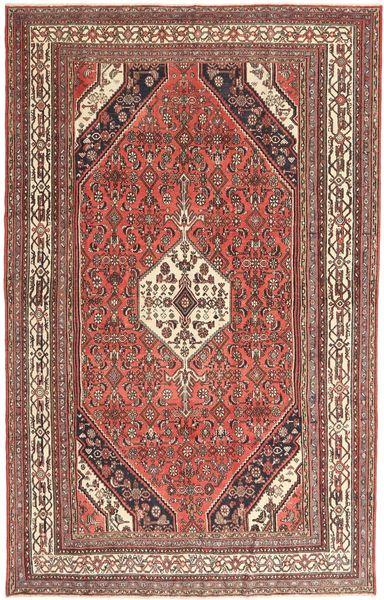 Hamadan Patina Matto 193X305 Itämainen Käsinsolmittu Vaaleanruskea/Tummanpunainen (Villa, Persia/Iran)