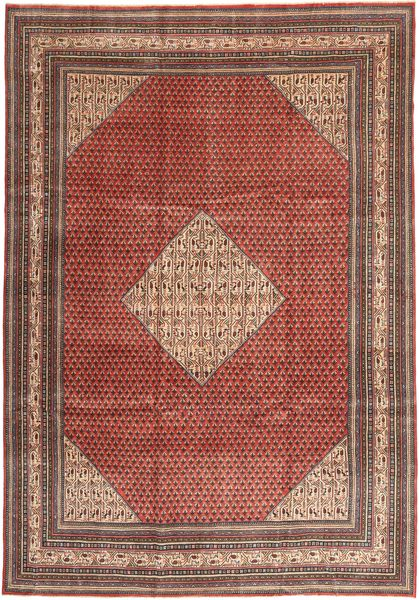 Sarough Patina Matta 255X360 Äkta Orientalisk Handknuten Mörkröd/Brun Stor (Ull, Persien/Iran)