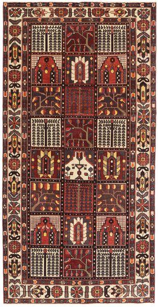바흐티아리 파티나 러그 154X305 정품  오리엔탈 수제 다크 레드/다크 브라운 (울, 페르시아/이란)