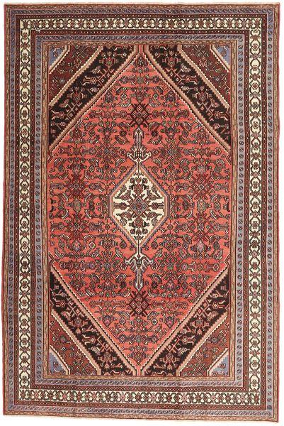 Hamadan Patina Rug 210X320 Authentic  Oriental Handknotted Dark Brown/Dark Red (Wool, Persia/Iran)