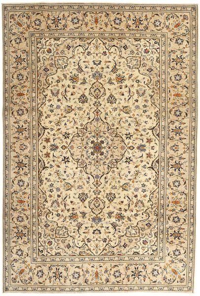 Keshan Patina Matto 200X293 Itämainen Käsinsolmittu Vaaleanruskea/Tummanbeige (Villa, Persia/Iran)