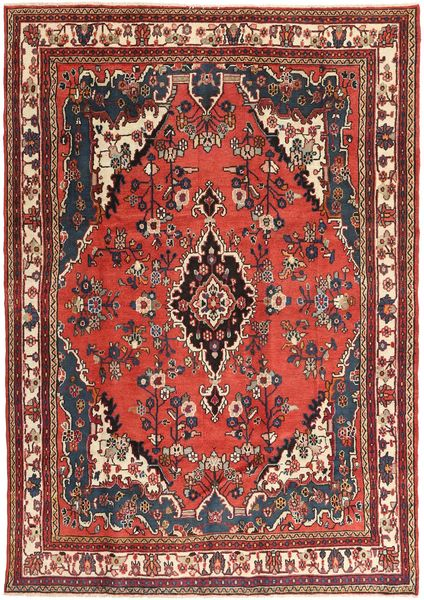 Hamadan Patina Rug 207X297 Authentic  Oriental Handknotted Brown/Dark Red (Wool, Persia/Iran)