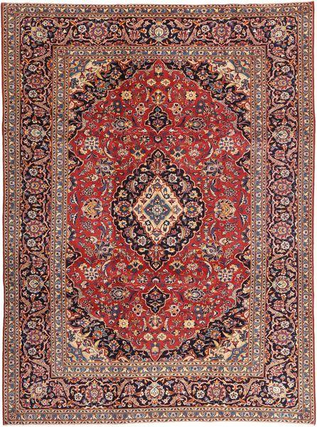 Keshan Patina Matto 242X333 Itämainen Käsinsolmittu Tummanpunainen/Vaaleanruskea/Ruskea (Villa, Persia/Iran)