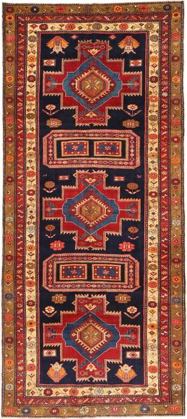 Ardebil Patina Rug 135X320 Authentic  Oriental Handknotted Hallway Runner  Dark Red/Dark Purple (Wool, Persia/Iran)