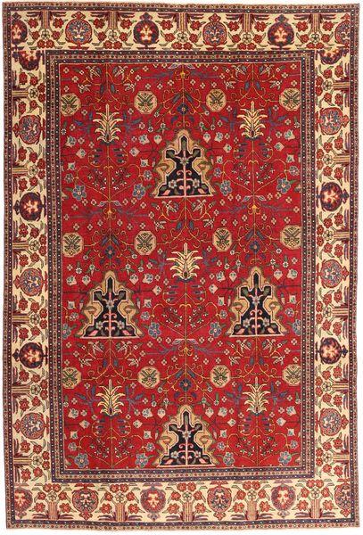 Tabriz Patina Matto 210X322 Itämainen Käsinsolmittu Tummanpunainen/Vaaleanruskea (Villa, Persia/Iran)