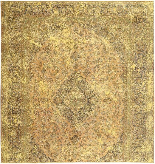 Colored Vintage Matta 290X303 Äkta Modern Handknuten Kvadratisk Ljusbrun/Mörkbeige Stor (Ull, Persien/Iran)