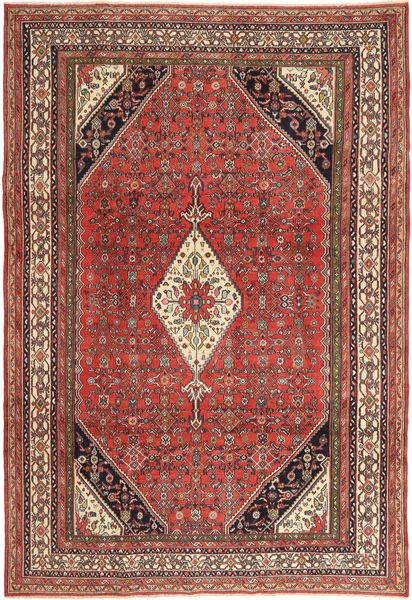 Hamadan Patina Rug 210X308 Authentic  Oriental Handknotted Dark Red/Dark Brown (Wool, Persia/Iran)