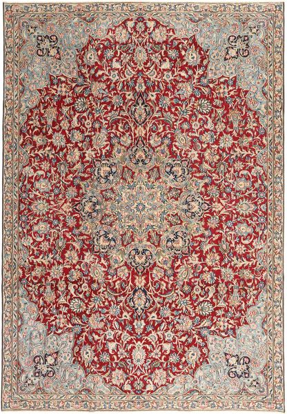 Kerman Patina Alfombra 227X337 Oriental Hecha A Mano Marrón/Marrón Claro (Lana, Persia/Irán)