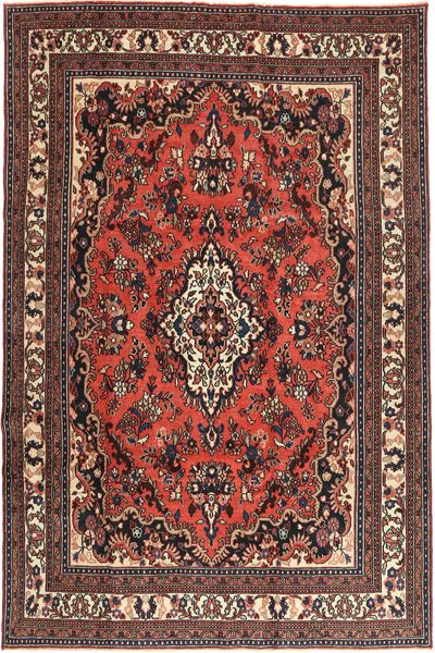 Hamadan Patina Rug 210X312 Authentic  Oriental Handknotted Dark Red/Dark Brown (Wool, Persia/Iran)