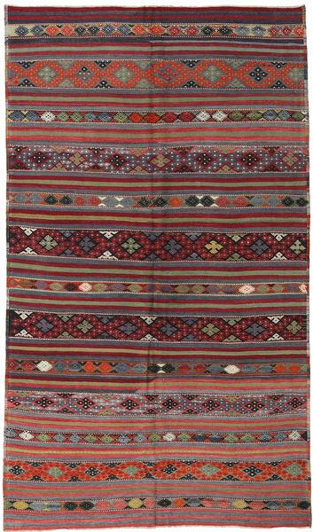 Kelim Turkisk Matta 181X304 Äkta Orientalisk Handvävd Mörkblå/Brun (Ull, Turkiet)