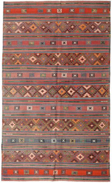 Kilim Turkish Rug 196X327 Authentic  Oriental Handwoven Dark Grey/Light Grey (Wool, Turkey)