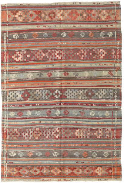 Kelim Turkisk Matta 170X252 Äkta Orientalisk Handvävd Ljusbrun/Brun (Ull, Turkiet)