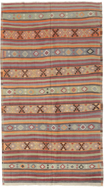 Kilim Turkish Rug 166X295 Authentic  Oriental Handwoven Light Brown/Dark Red/Light Grey (Wool, Turkey)