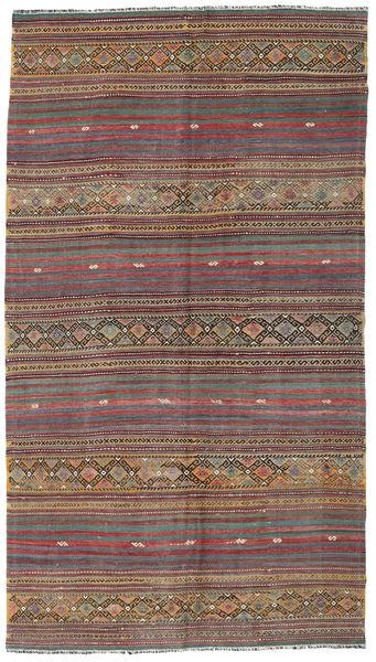 Kilim Turkish Rug 155X276 Authentic  Oriental Handwoven Light Brown/Brown (Wool, Turkey)