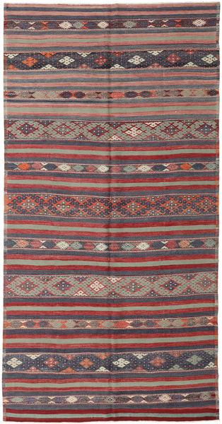 Κιλίμ Τουρκία Χαλι 176X340 Ανατολής Χειροποίητη Ύφανση Σκούρο Γκρι/Σκούρο Κόκκινο (Μαλλί, Τουρκικά)