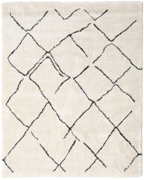 Shaggy Agadir - Off-White/Dark Grey Rug 240X300 Modern Beige/Light Grey/White/Creme ( Turkey)
