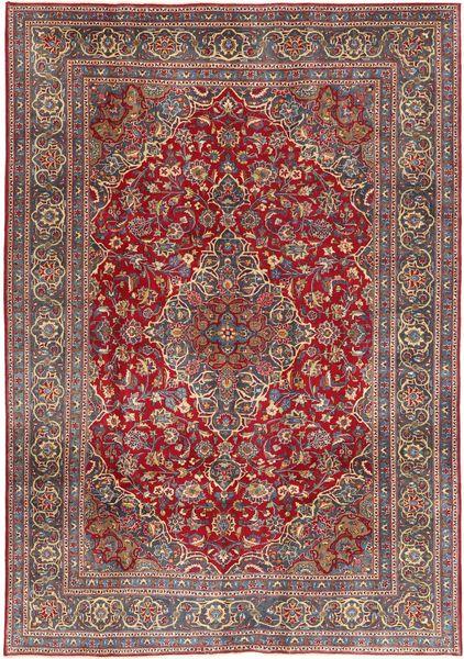 Mashad Patina Matta 200X292 Äkta Orientalisk Handknuten Mörkröd/Brun (Ull, Persien/Iran)