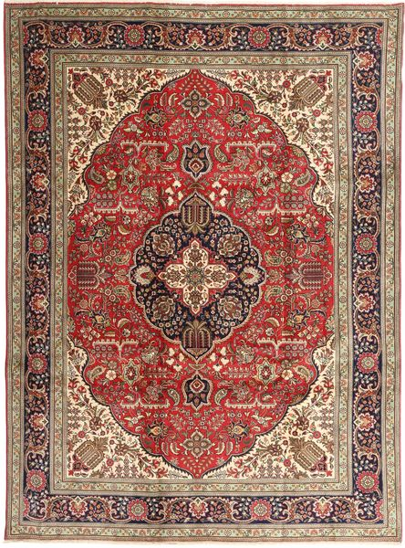 Tabriz Rug 253X343 Authentic  Oriental Handknotted Light Brown/Dark Red Large (Wool, Persia/Iran)