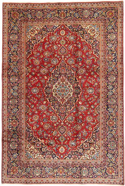 Keshan Matta 200X304 Äkta Orientalisk Handknuten Mörkröd/Brun (Ull, Persien/Iran)