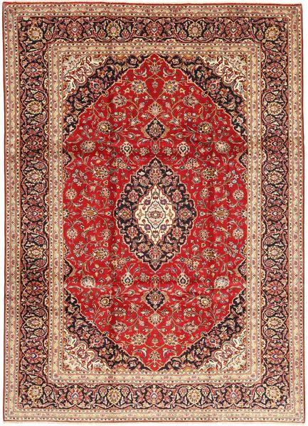 Keshan Rug 245X335 Authentic  Oriental Handknotted Dark Brown/Dark Red (Wool, Persia/Iran)