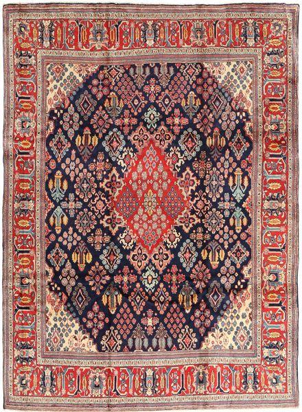 Arak Alfombra 237X325 Oriental Hecha A Mano Púrpura Oscuro/Óxido/Roja (Lana, Persia/Irán)