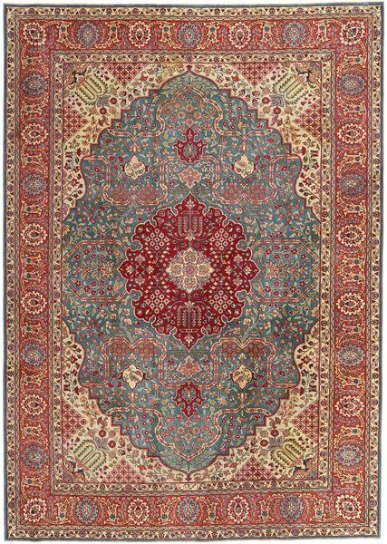 Tabriz Patina Teppe 240X340 Ekte Orientalsk Håndknyttet Brun/Mørk Grå (Ull, Persia/Iran)