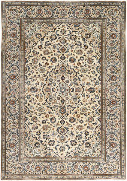 Keshan Patina Matto 238X347 Itämainen Käsinsolmittu Vaaleanruskea/Beige (Villa, Persia/Iran)