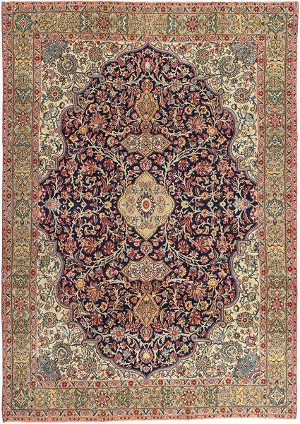 Najafabad Patina Rug 240X344 Authentic  Oriental Handknotted Dark Brown/Light Brown/Dark Red (Wool, Persia/Iran)