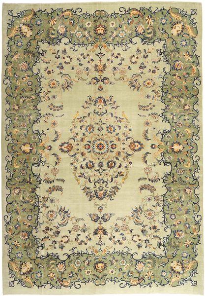カシャン パティナ 絨毯 290X410 オリエンタル 手織り ライトグリーン/ベージュ 大きな (ウール, ペルシャ/イラン)