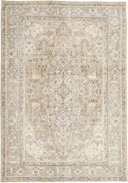 Colored Vintage Rug 198X280 Authentic  Modern Handknotted Light Brown/Beige/Light Grey (Wool, Persia/Iran)