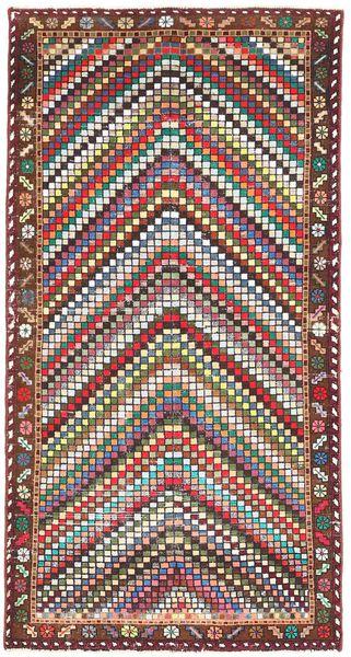 Bakhtiari Patina Rug 100X198 Authentic  Oriental Handknotted Dark Brown/Dark Red (Wool, Persia/Iran)