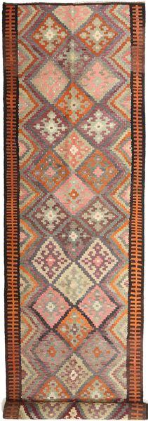 Kelim Fars Matto 158X830 Itämainen Käsinkudottu Käytävämatto Tummanpunainen/Vaaleanruskea (Villa, Persia/Iran)