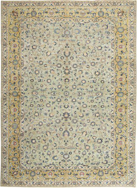 Keshan Patina Alfombra 310X440 Oriental Hecha A Mano Gris Claro/Verde Oliva Grande (Lana, Persia/Irán)