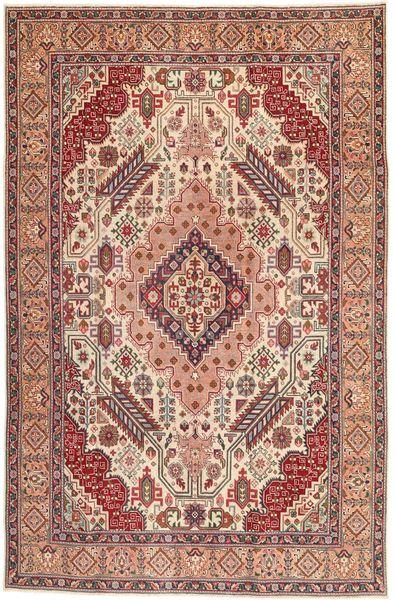 Tabriz Patina Matto 195X300 Itämainen Käsinsolmittu Vaaleanruskea/Ruskea (Villa, Persia/Iran)