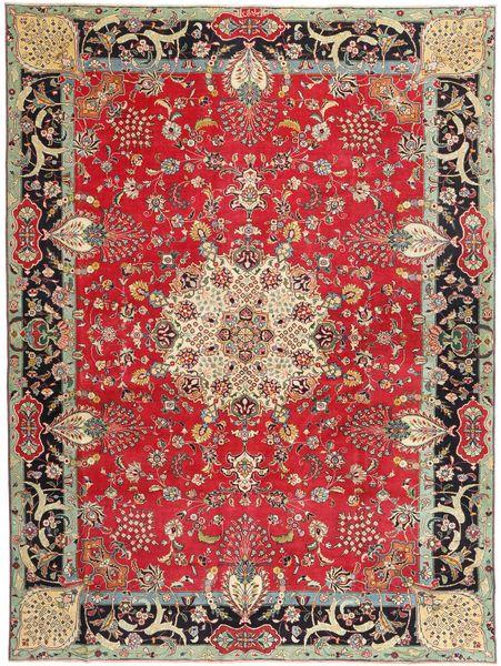 Tabriz Patina Allekirjoitettu: Bradaran Matto 283X385 Itämainen Käsinsolmittu Tummanpunainen/Tummanruskea Isot (Villa, Persia/Iran)