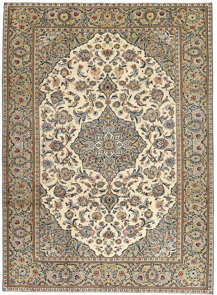 Kashan Patina Tapis 230X325 D'orient Fait Main Marron Clair/Beige (Laine, Perse/Iran)