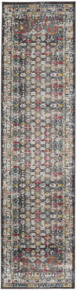 Chillon - Marron/Multi Tapis 80X300 Moderne Tapis Couloir Gris Clair/Marron ( Turquie)