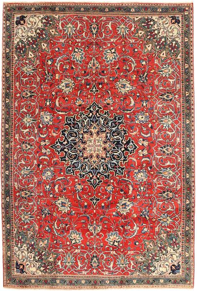Mahal Rug 210X305 Authentic  Oriental Handknotted Light Brown/Rust Red (Wool, Persia/Iran)
