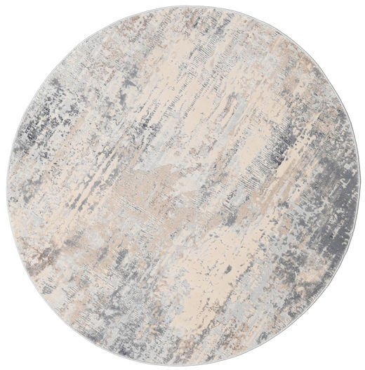 Ritz - Light Grey/Beige Rug Ø 150 Modern Round Light Grey/Beige ( Turkey)