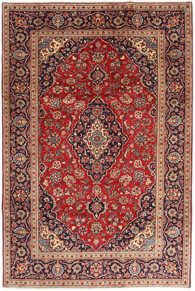 Keshan Matta 200X295 Äkta Orientalisk Handknuten Mörkröd/Mörkbrun (Ull, Persien/Iran)