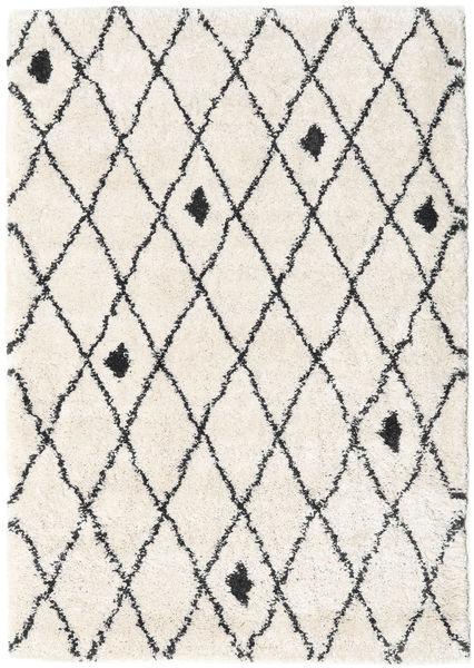 Shaggy Zanjan - Off White / Mørk Grå teppe CVD19583