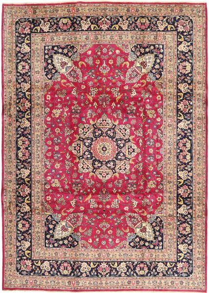 Kashmar Rug 246X343 Authentic  Oriental Handknotted Light Brown/Purple (Wool, Persia/Iran)