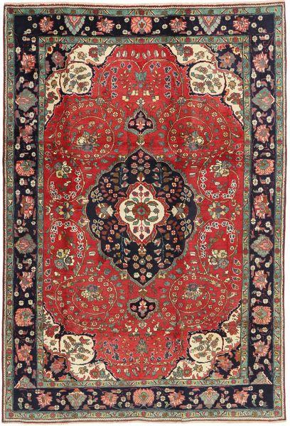 Tabriz Rug 198X303 Authentic  Oriental Handknotted Dark Brown/Dark Red (Wool, Persia/Iran)