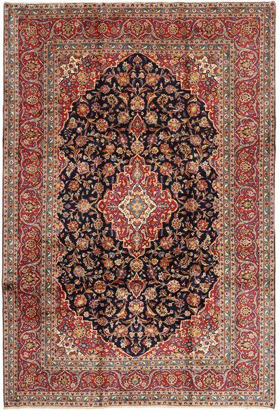 Keshan Matto 242X357 Itämainen Käsinsolmittu Ruskea/Tummanruskea (Villa, Persia/Iran)