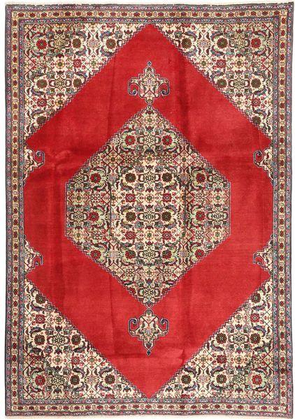 Tabriz Matto 185X262 Itämainen Käsinsolmittu Punainen/Vaaleanruskea (Villa, Persia/Iran)