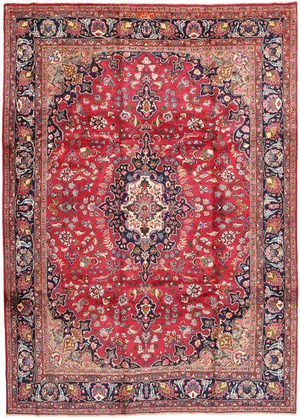 Mashad Rug 247X340 Authentic  Oriental Handknotted Purple/Light Pink (Wool, Persia/Iran)