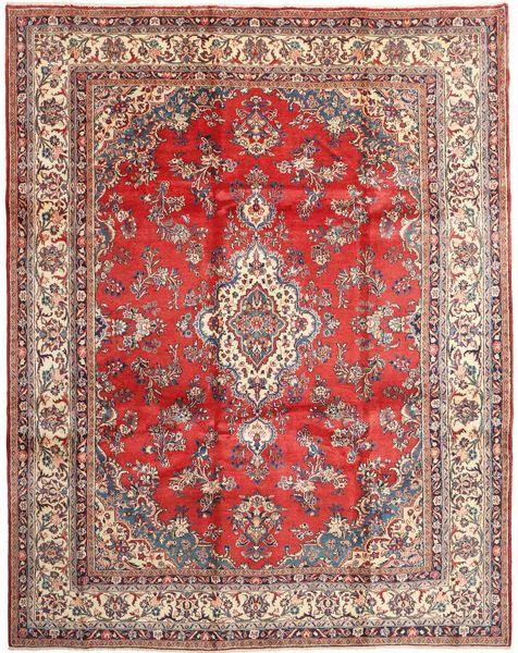 Hamadan Shahrbaf Teppe 270X335 Ekte Orientalsk Håndknyttet Lysbrun/Lyserosa Stort (Ull, Persia/Iran)