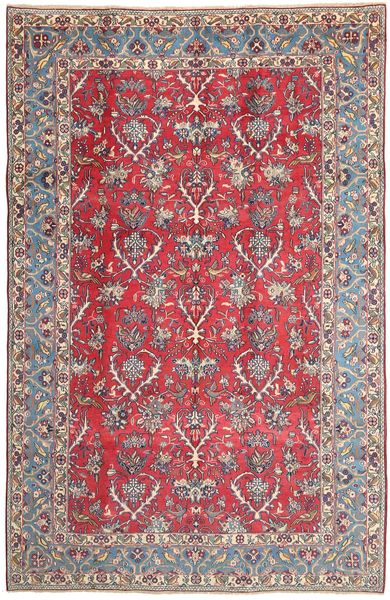 Najafabad Rug 200X315 Authentic  Oriental Handknotted Light Grey/Dark Red (Wool, Persia/Iran)