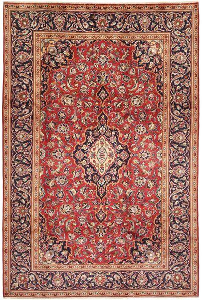 Keshan Rug 198X303 Authentic  Oriental Handknotted Dark Red/Dark Brown (Wool, Persia/Iran)