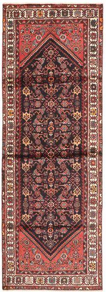 Hamadan Rug 100X300 Authentic  Oriental Handknotted Hallway Runner  Brown/Dark Red (Wool, Persia/Iran)